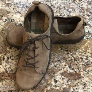Born light brown suede women's sneakers.